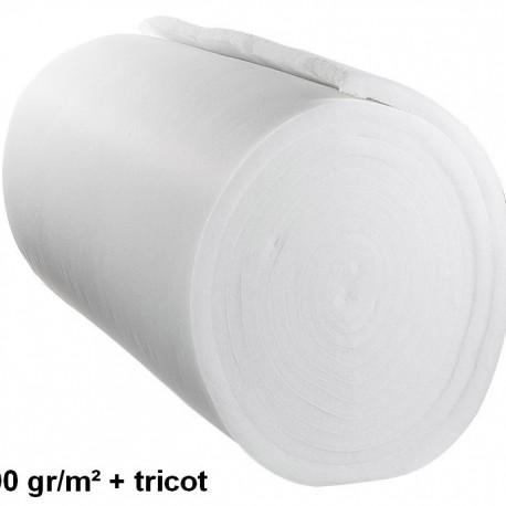 OUATE 310 gr/m² + TRICOT 100% POL LARGEUR 160cm AU METRE LINEAIRE